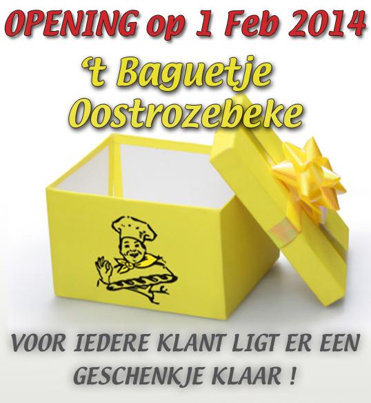 tBaguetje Oostrozebeke Opening op 1Feb 2013